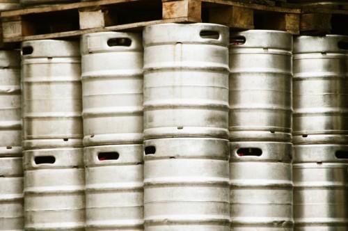 brewery beer barrels