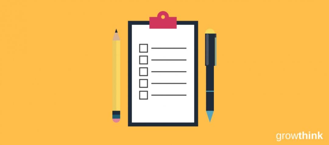 pen pencil and checklist