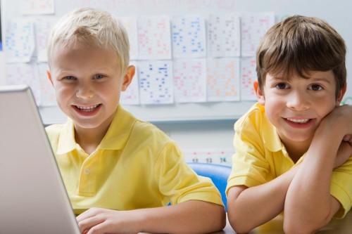 child care boys laptop